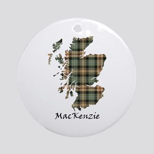 Map-MacKenzie htg brn Round Ornament