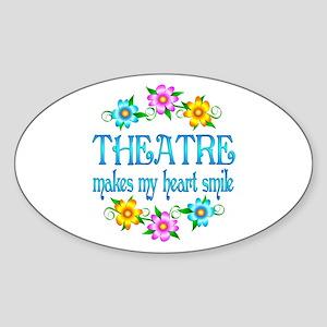 Theatre Smiles Sticker (Oval)