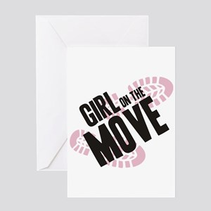 Girl on the Move Greeting Card