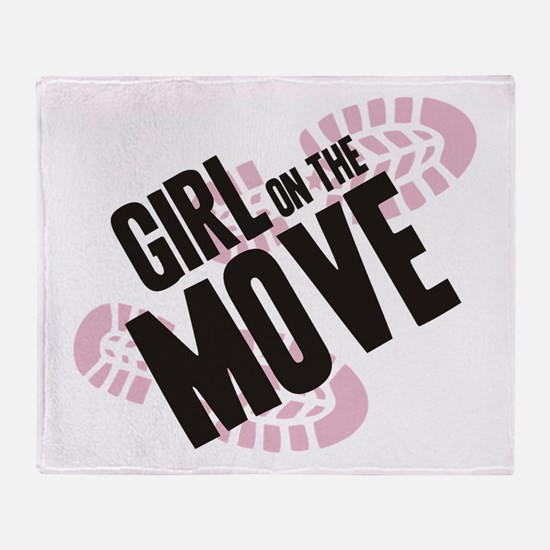 Girl on the Move Throw Blanket