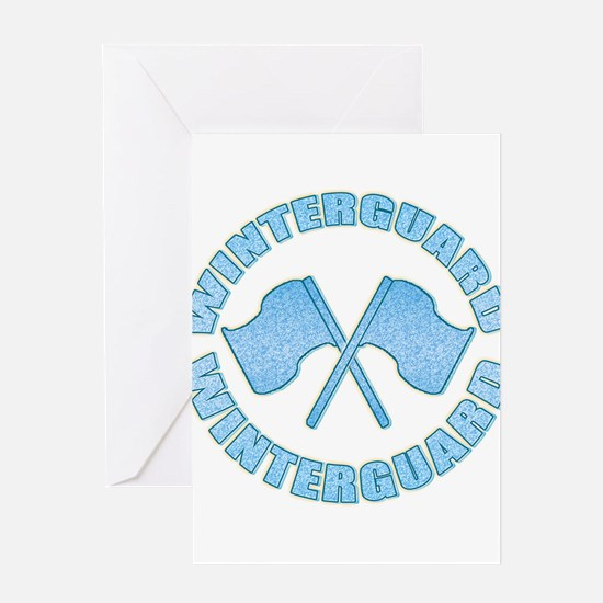 Vintage Winterguard Blue Greeting Cards (Package o