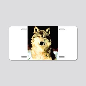 Like A Wolf Aluminum License Plate