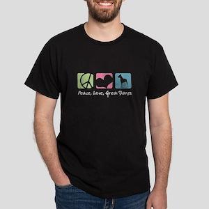 Peace, Love, Great Danes Dark T-Shirt