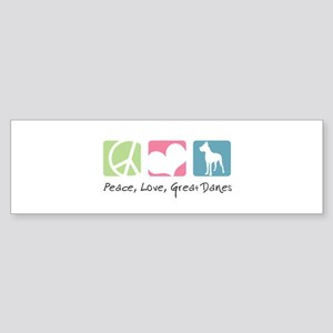 Peace, Love, Great Danes Sticker (Bumper)