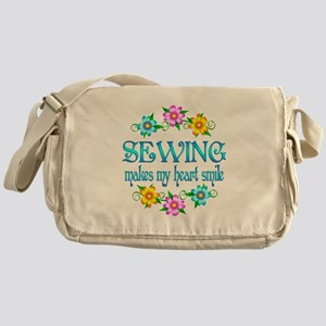 Sewing Smiles Messenger Bag
