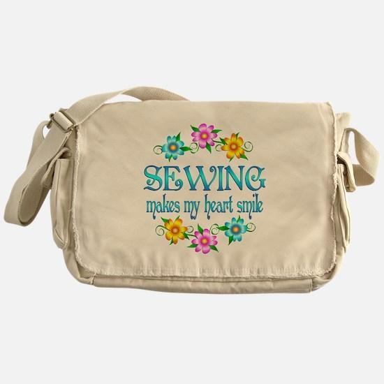 Sewing Smiles Messenger Bag