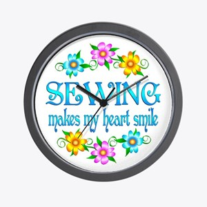 Sewing Smiles Wall Clock