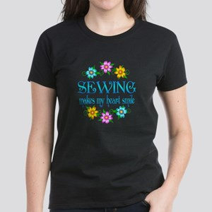 Sewing Smiles Women's Dark T-Shirt