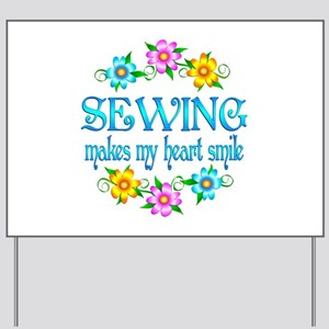 Sewing Smiles Yard Sign