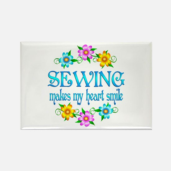 Sewing Smiles Rectangle Magnet