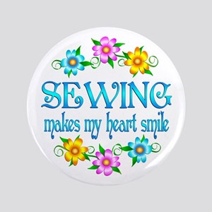 """Sewing Smiles 3.5"""" Button"""