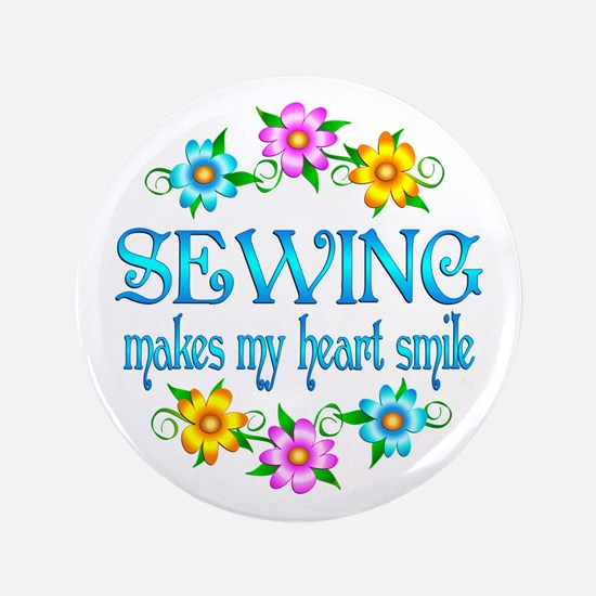 "Sewing Smiles 3.5"" Button (100 pack)"