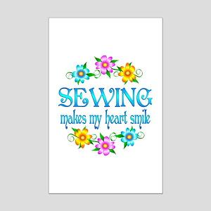 Sewing Smiles Mini Poster Print