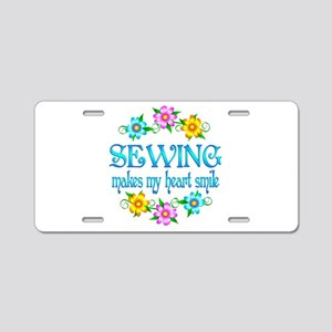 Sewing Smiles Aluminum License Plate