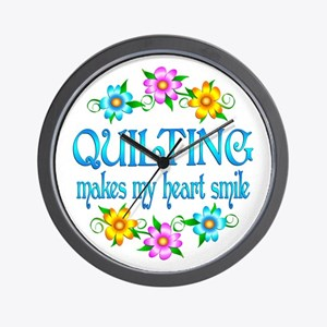 Quilting Smiles Wall Clock