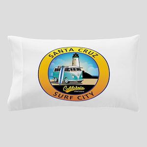 Santa Cruz California Surfer Van Pillow Case