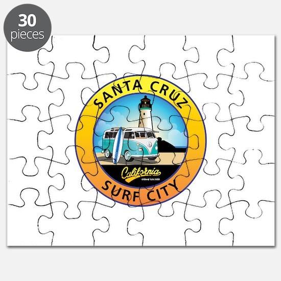 Santa Cruz California Surfer Van Puzzle