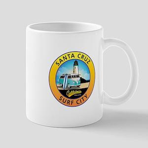 Santa Cruz California Surfer Van 11 oz Ceramic Mug