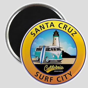 Santa Cruz California Surfer Van Magnet