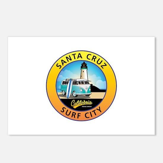 Santa Cruz California Sur Postcards (Package of 8)