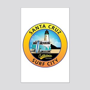 Santa Cruz California Surfer Van Mini Poster Print