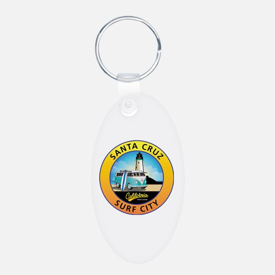 Santa Cruz California Surfe Keychains
