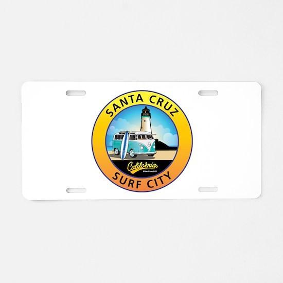 Santa Cruz California Surfe Aluminum License Plate