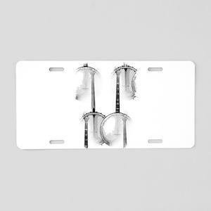 Banjo Aluminum License Plate