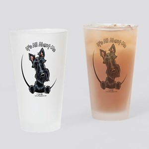 Black Scottie IAAM Drinking Glass