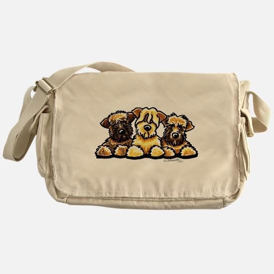 Wheaten Terrier Cartoon Messenger Bag