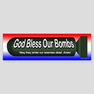 God Bless Our Bombs Sticker (Bumper)