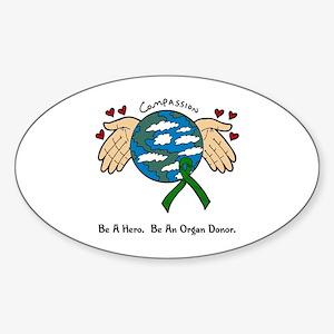 Donor World II Oval Sticker
