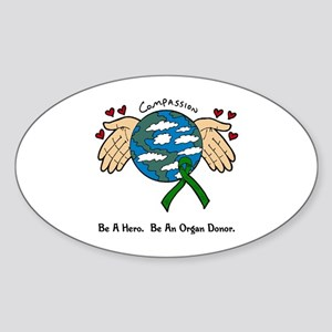 Donor World II Oval Sticker