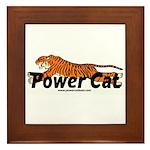 Power Cat Logo Framed Tile