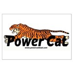 Power Cat Logo Posters Large Poster