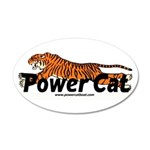 Power Cat Logo 35x21 Oval Wall Decal