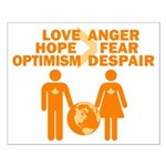 Love Hope Optimism Small Poster
