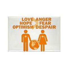 Love Hope Optimism Rectangle Magnet (100 pack)