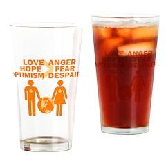 Love Hope Optimism Drinking Glass