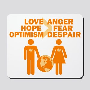 Love Hope Optimism Mousepad