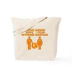 Love Hope Optimism Tote Bag