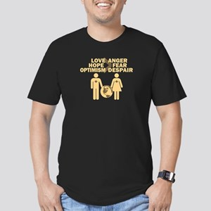 Love Hope Optimism Men's Fitted T-Shirt (dark)