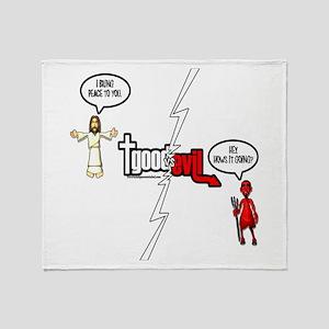 Good vs Evil Throw Blanket
