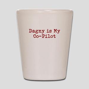 Dagny is my co-pilot Shot Glass