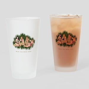 Hula Girls Wishing You Were Here Drinking Glass