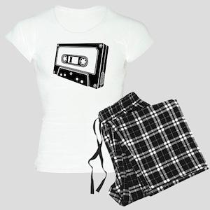 Black & White Cassette Tape Women's Light Pajamas