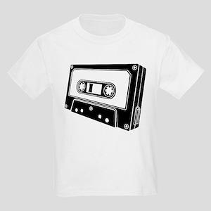 Black & White Cassette Tape Kids Light T-Shirt