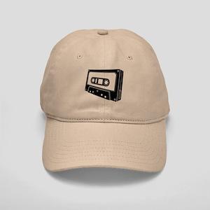Black & White Cassette Tape Cap