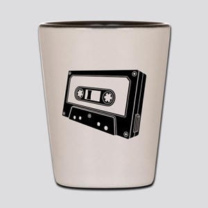 Black & White Cassette Tape Shot Glass