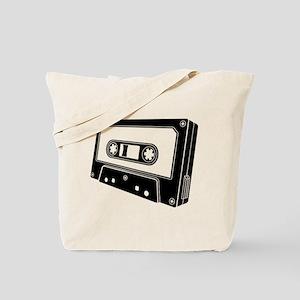 Black & White Cassette Tape Tote Bag